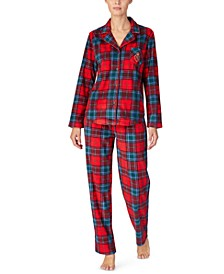 Petite Printed Fleece Pajama Set