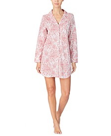 Cotton Printed Sleepshirt Nightgown