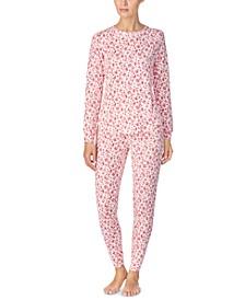 Printed Sweater-Knit Pajama Set