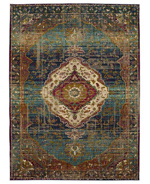 Karastan Meraki Solace Peacock 5' x 8' Area Rug