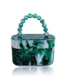 Vintage-Like Style 80's Acrylic Lunch Box Clutch Bag