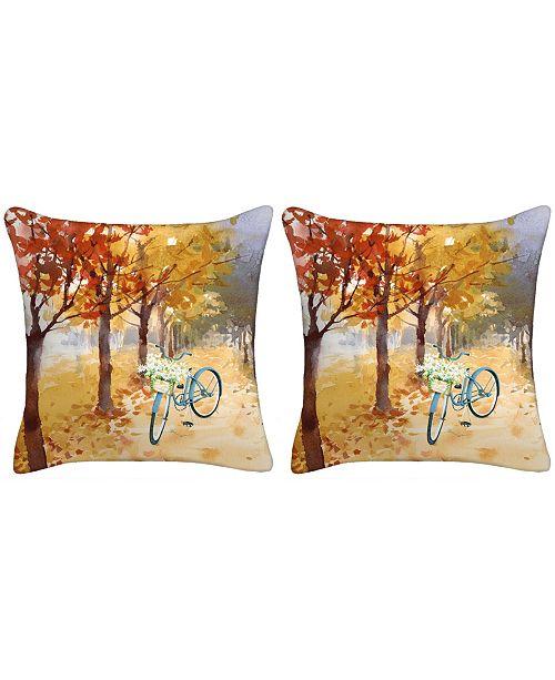 Jordan Manufacturing Set of 2- Bicycle Toss Pillows