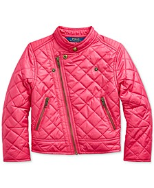 Toddler Girls Quilted Moto Jacket