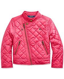 Polo Ralph Lauren Little Girls Quilted Moto Jacket