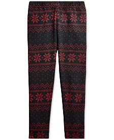 Polo Ralph Lauren Toddler Girls Fair Isle Jersey Legging