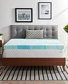 "4"" Gel Swirl Memory Foam Mattress Topper, Full"