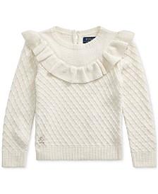 Polo Ralph Lauren Little Girls Ruffled Metallic Sweater