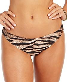 Tiger Printed Classic Bikini Bottoms