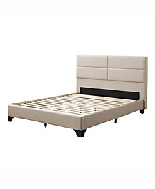 Distribution Bellevue Wide-Rectangle Panel Upholstered Bed and Frame, Full
