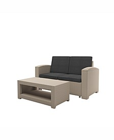 Distribution Adelaide 2 Piece All-Weather Loveseat Patio Set