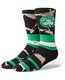 Boston Celtics Acid Wash Crew Socks