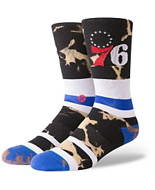 Stance Philadelphia 76ers Acid Wash Crew Socks