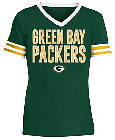 5th & Ocean Big Girls Green Bay Packers Sequin Stripe T-Shirt