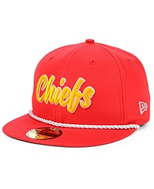 Kansas City Chiefs On-Field Sideline Home 59FIFTY Fitted Cap