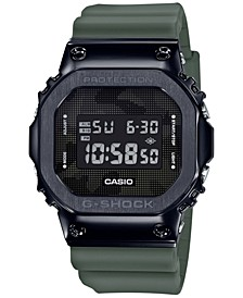 Men's Digital Green Resin Strap Watch 43mm