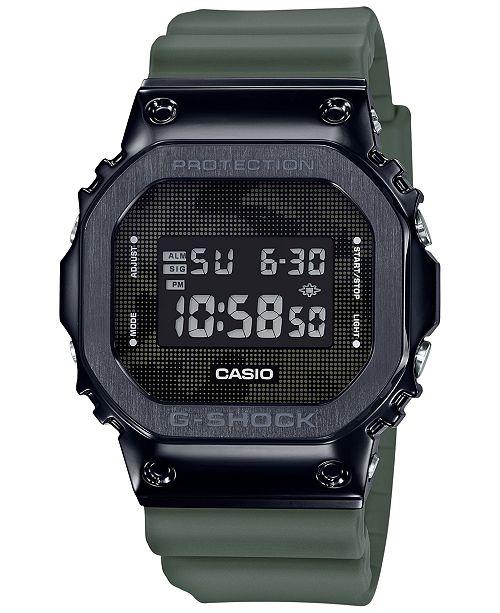 G-Shock Men's Digital Green Resin Strap Watch 43mm