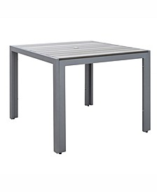 Distribution Gallant Sun Bleached Square Outdoor Dining Table