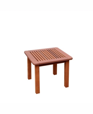 Corliving Distribution Miramar Hardwood Outdoor Side Table -  PEX-864-T