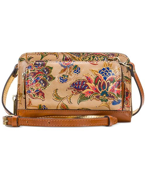 Patricia Nash French Tapestry Andria Leather Crossbody