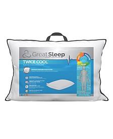 Great Sleep Twice Cool Premium Memory Foam Core Pillows