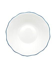 Amelie Royal Blue Rim Soup/Pasta Bowl