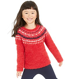 Toddler Girls Fuzzy Fairisle Sweater, Created For Macy's