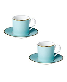 Charlotte Espresso Cups Saucers - Set of 2