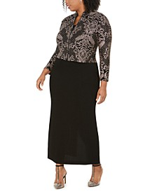 Plus Size Column Gown & Jacket