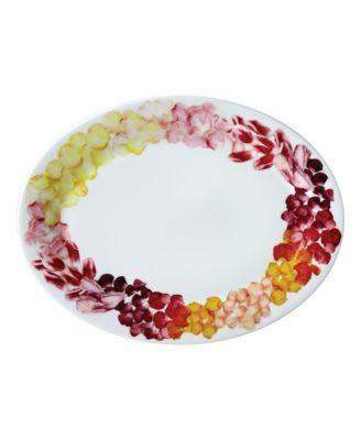 """Petals 14"""" Oval Platter"""