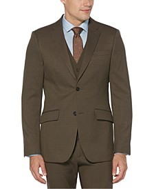 Men's Slim-Fit Houndstooth Suit Jacket