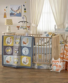 In The Woods 4-Piece Crib Bedding Set