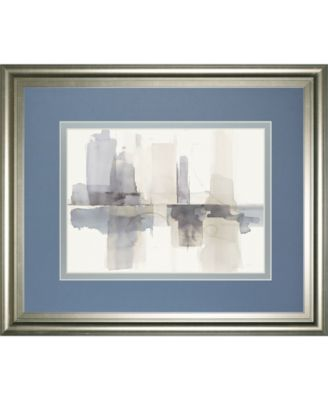 """Improvisation Il Gray Crop by Mike Schick Framed Print Wall Art - 34"""" x 40"""""""