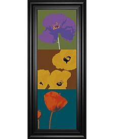 "Pop Poppies by Li-Legger, D Framed Print Wall Art - 18"" x 42"""
