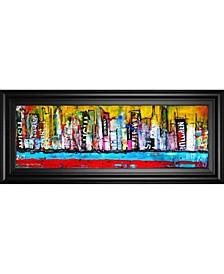 """Skyline by Erin Ashley Framed Print Wall Art - 18"""" x 42"""""""