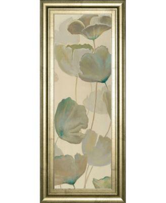 "Poppy Impression Panel 2 by George Generali Framed Print Wall Art - 18"" x 42"""