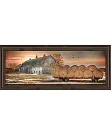 "Sunset on The Farm by Lori Dieter Framed Print Wall Art - 18"" x 42"""