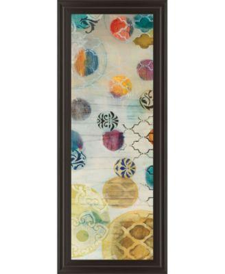 "Casa Blanca Panel I by Jeni Lee Framed Print Wall Art - 18"" x 42"""