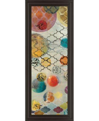 """Casa Blanca Panel Il by Jeni Lee Framed Print Wall Art - 18"""" x 42"""""""