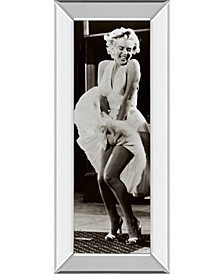 "The Seven Year Itch by Anonymous Mirror Framed Print Wall Art - 18"" x 42"""