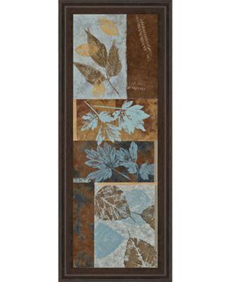 "Blue Fusion Panel Il by Jeni Lee Framed Print Wall Art - 18"" x 42"""