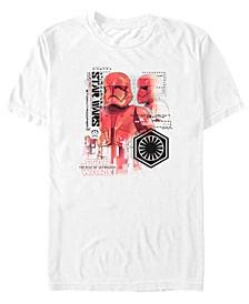 Men's Rise Of Skywalker Sith Trooper Schematics Short Sleeve T-Shirt