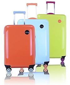 Colorwave Collection Hardside Spinner Luggage- 3 Piece Set