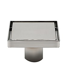 Modern Square Polished Stainless Steel Shower Drain with Solid Cover