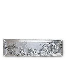 Olive Pattern Sand-Cast Aluminum Oblong Serving Tray