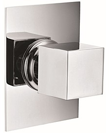 Polished Chrome Modern Square 3 Way Shower Diverter