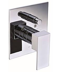Polished Chrome Modern Square Pressure Balanced Shower Mixer with Diverter