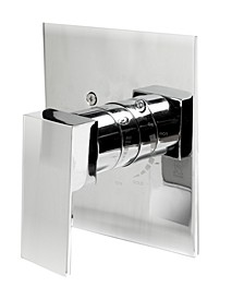Polished Chrome Modern Square Pressure Balanced Shower Mixer