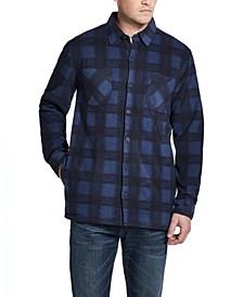 Men's Fleece-Lined Plaid Shirt-Jacket