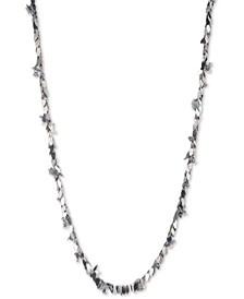 "Two-Tone Imitation Pearl Flower Shaky Charm 48"" Strand Necklace"