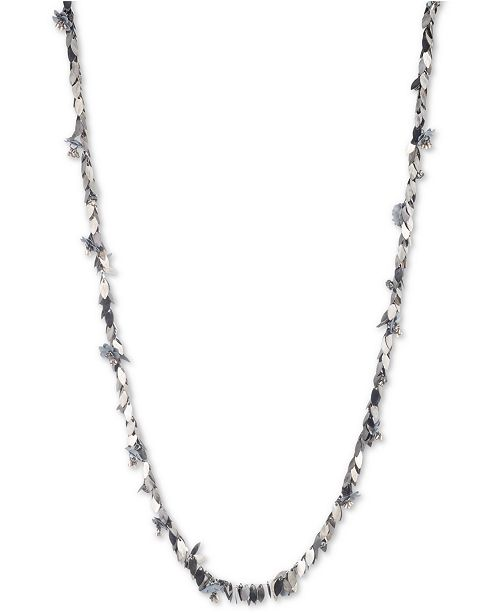 "Jenny Packham Two-Tone Imitation Pearl Flower Shaky Charm 48"" Strand Necklace"